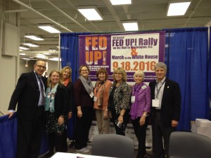 group at the booth